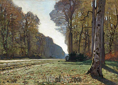 Le Pave de Chailly (The Road to Bas-Breau, Fontainebleau), 1865 | Monet| Painting Reproduction