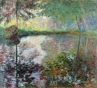 Pond at Montgeron, c.1876 | Monet | Gemälde Reproduktion