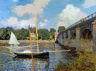The Bridge at Argenteuil, 1874 | Monet | Painting Reproduction