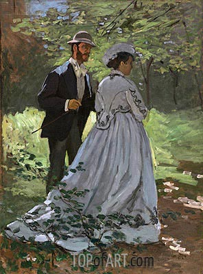 Monet | Bazille and Camille (Study for 'Déjeuner sur l'Herbe'), 1865