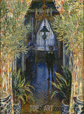 A Corner of the Apartment, 1875 | Monet | Painting Reproduction