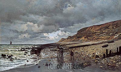 The Pointe de La Heve at Low Tide, 1865 | Monet | Gemälde Reproduktion