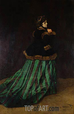 Monet | Camille (The Woman in the Green Dress), 1866