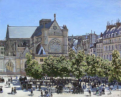 Saint Germain l'Auxerrois, 1866 | Monet | Gemälde Reproduktion