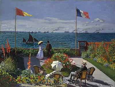 Garden at Sainte Adresse, 1867 | Monet | Gemälde Reproduktion