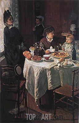 The Luncheon, 1868 | Monet | Gemälde Reproduktion