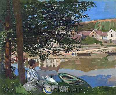 On the Bank of the Seine, Bennecourt, 1868 | Monet| Painting Reproduction