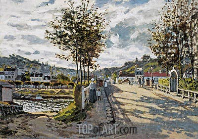 The Seine at Bougival, c.1869/70 | Monet | Gemälde Reproduktion