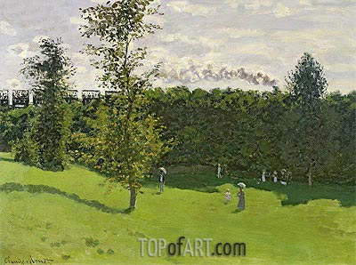 Train in the Countryside, c.1870/71 | Monet| Painting Reproduction