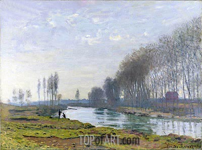 The Petit Bras of the Seine at Argenteuil, 1872 | Monet | Painting Reproduction