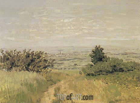 View of the Argenteuil Plain from San nois Hills, 1872 | Monet | Painting Reproduction