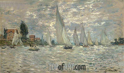 Regatta at Argenteuil, 1874 | Monet | Gemälde Reproduktion