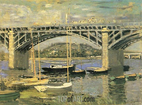 The Seine Bridge at Argenteuil, 1874 | Monet | Painting Reproduction