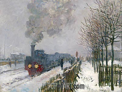 Train in the Snow (The Locomotive), 1875 | Monet| Painting Reproduction