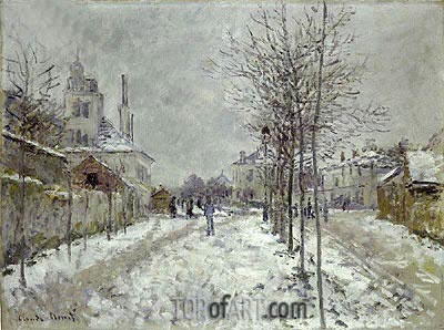 Monet | Boulevard de Pontoise at Argenteuil, Snow Effect, 1875