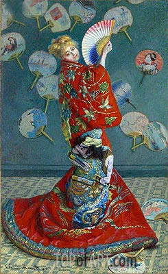 La Japonaise (Camille Monet in Japanese Costume), 1876 | Monet| Gemälde Reproduktion