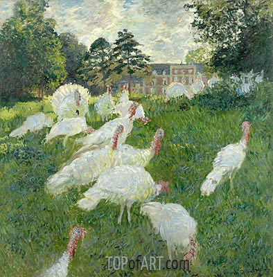 The Turkeys, 1877 | Monet| Gemälde Reproduktion
