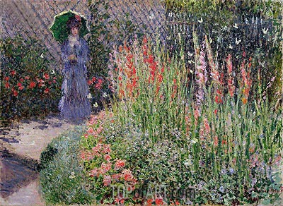 Gladioli, c.1876 | Monet | Painting Reproduction