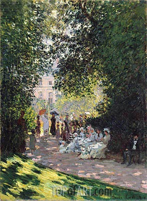 The Parc Monceau, 1878 | Monet| Painting Reproduction