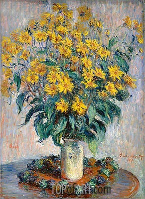 Jerusalem Artichoke Flowers, 1880 | Monet | Painting Reproduction