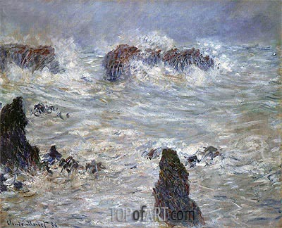 Storm at Belle-Ile, 1886 | Monet| Painting Reproduction