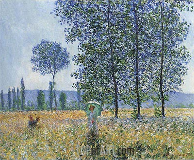 Under the Poplars, Sunlight Effect, 1887 | Monet| Gemälde Reproduktion
