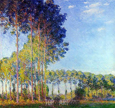 Poplars on the Banks of the Epte, Seen from Marsh, 1891 | Monet| Gemälde Reproduktion