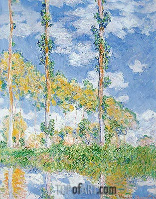 Poplars in the Sun, 1891 | Monet | Gemälde Reproduktion