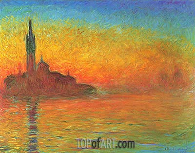 Twilight, Venice at Dusk, 1908 | Monet| Gemälde Reproduktion
