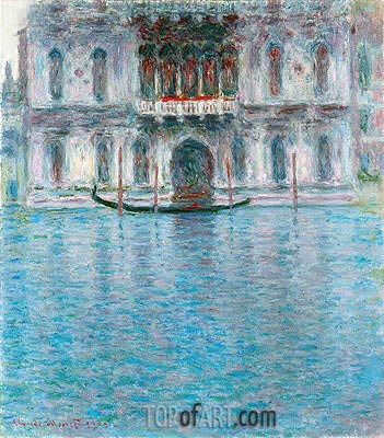 Palazzo Contarini, Venedig, 1908 | Monet | Painting Reproduction