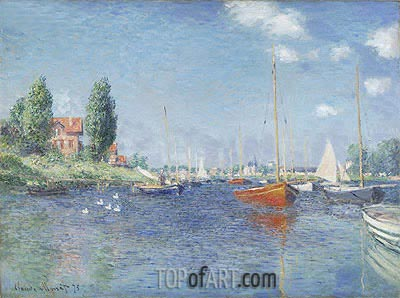 Red Boats at Argenteuil, 1875 | Monet| Painting Reproduction