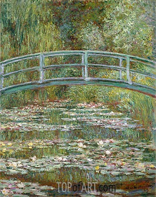 Bridge over a Pond of Water Lilies, 1899 | Monet| Gemälde Reproduktion