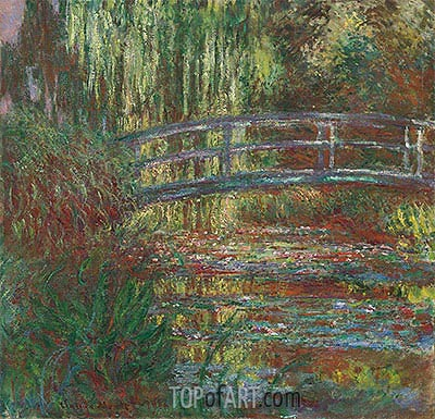 Monet's Water Garden and the Japanese Footbridge, 1900 | Monet | Painting Reproduction