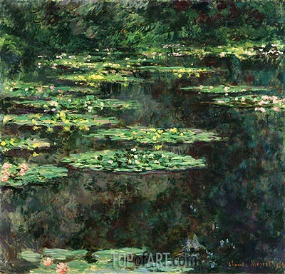 Water Lilies, 1904 | Monet | Painting Reproduction