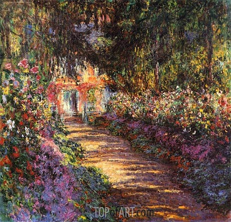 The Flowered Garden, Giverny, c.1901/02 | Monet | Gemälde Reproduktion