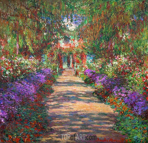 Pathway in Monet's Garden at Giverny, c.1901/02 | Monet| Painting Reproduction