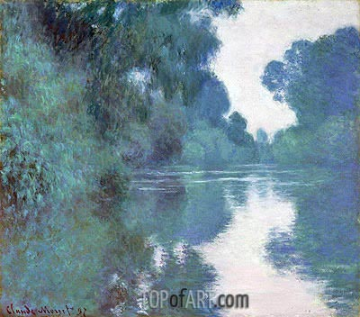Morning on the Seine, near Giverny, 1897 | Monet| Painting Reproduction