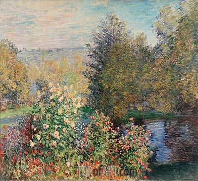 Corner of the Garden at Montgeron, c.1876 | Monet | Gemälde Reproduktion