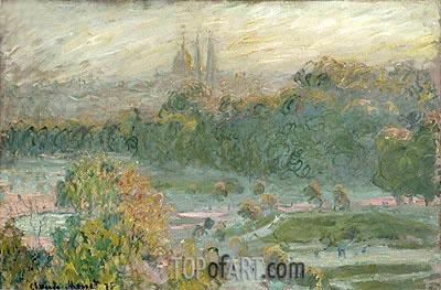The Tuileries, 1875 | Monet| Painting Reproduction