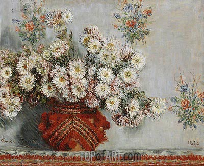 Monet | Chrysanthemums, 1878