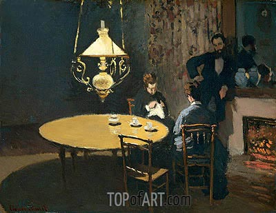 Interior, after Dinner, c.1868/69 | Monet| Painting Reproduction