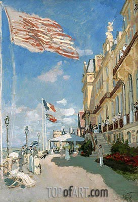 Monet | The Hotel des Roches Noires at Trouville, 1870