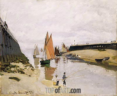 Entrance to the Port of Trouville, 1870 | Monet | Painting Reproduction