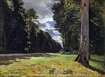 The Chailly Road Through the Forest of Fontainebleau, 1865 | Monet | Painting Reproduction