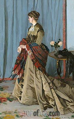 Monet | Portrait of Madame Gaudibert, 1868