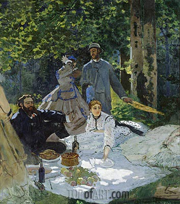 Dejeuner sur L'Herbe, Chailly, c.1865/66 | Monet | Painting Reproduction
