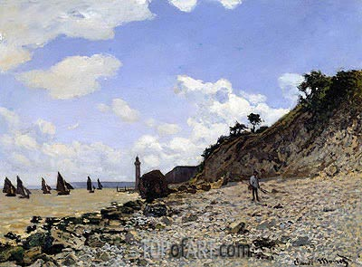 Beach at Honfleur, c.1867 | Monet| Gemälde Reproduktion