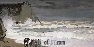 Rough Sea at Etretat, c.1868/69 | Monet | Painting Reproduction
