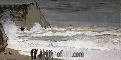 Monet | Rough Sea at Etretat, c.1868/69