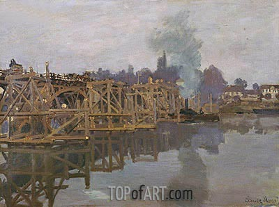 Argenteuil, the Bridge under Repair, 1872 | Monet | Gemälde Reproduktion